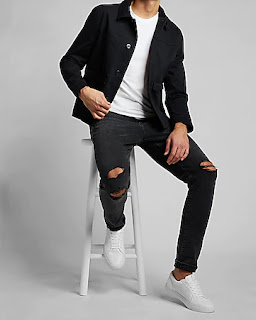 Express Extra 60% Off Clearance: Men's Seersucker Suit Jackets $28, Chore Shirt Jackets or Cotton Blazer $32, Henleys & Shirts $12 and MORE + FS on $50+