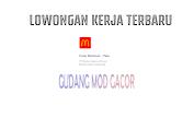 Loker Crew Restoran McDonald's Indonesia Terbaru Oktober 2021