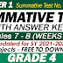 GRADE 4 UPDATED SUMMATIVE TESTS NO. 4 for SY 2021-2022 (Q1: Weeks 7-8) With Answer Keys