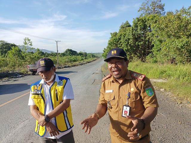 Tujuh Titik Jalan Berlubang di Tanbu Diaspal Jelang Kedatangan Jokowi
