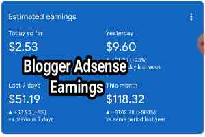 Blogger Adsense Earnings Proof with Approval Trick in Bangla
