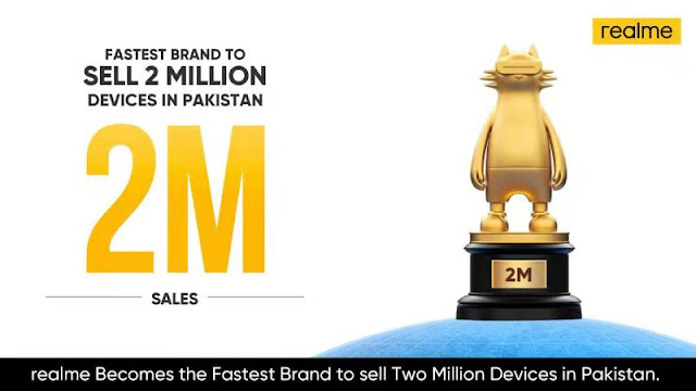 realme becomes the Fastest Brand to Sell Two Million Devices in Pakistan