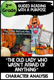The Little Old Lady Who Wasn't Afraid of Anything Halloween Reading Comprehension activity
