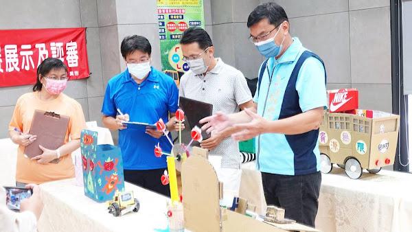 鹿港鎮學校資源回收創意比賽 小朋友環保創意無限寬廣