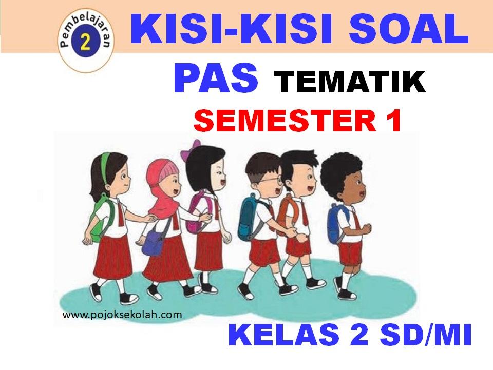 Kisi-kisi Soal PAS Tematik Kelas 2 SD/MI