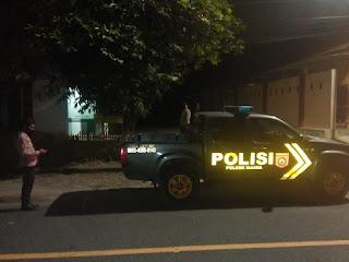 Polsek Maiwa Polres Enrekang Rutin Laksanakan Patroli Blue Light Di Malam Hari