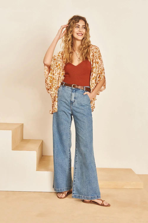 wide leg pantalon ancho de jean 2022 mujer