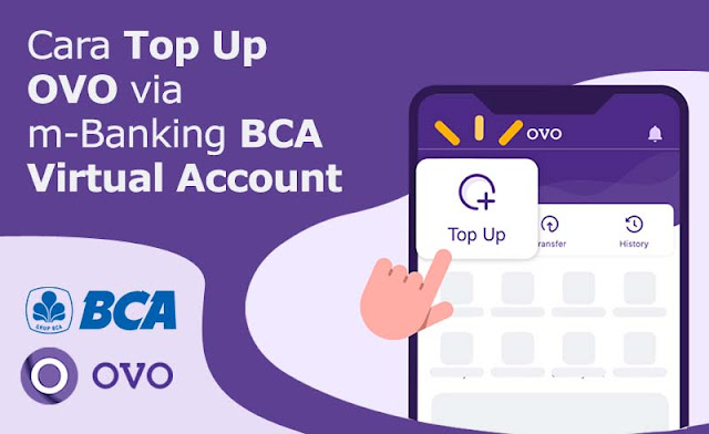 cara top up ovo via m-banking bca virtual account