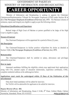 JOBS IN Ministry Of Information And Broadcasting