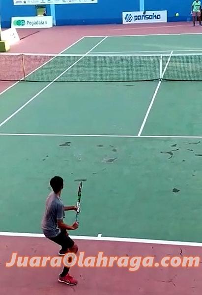 Disway Tennis Junior Championship: Tekuk Rangga Wisnu, Atlet PPLPD Kalsel Melangkah ke Semifinal KU 14 Putra