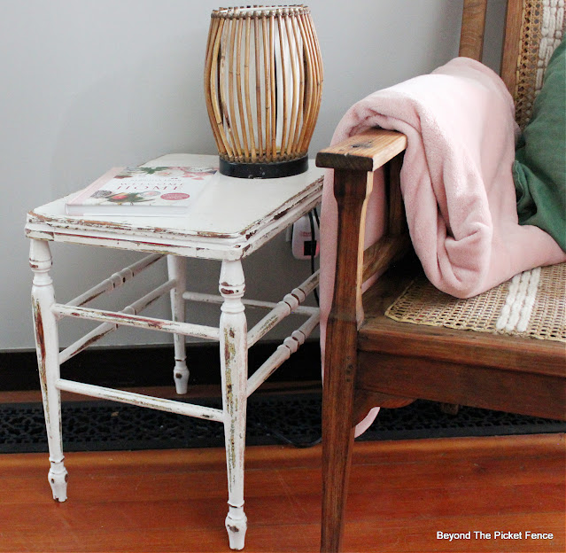 Sweet Chippy Vintage Stool Table