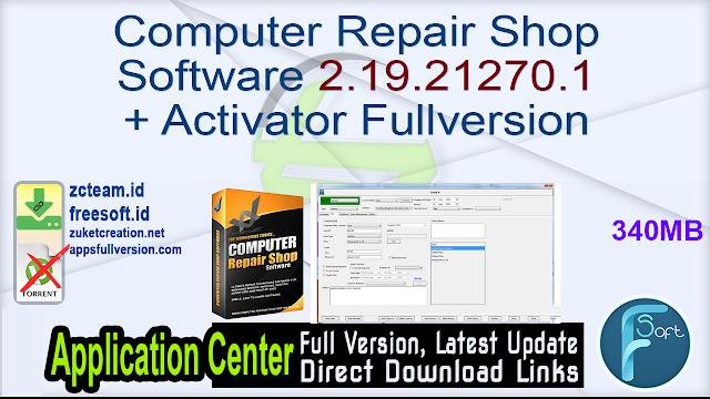 Computer Repair Shop Software 2.19.21270.1 + Activator Fullversion