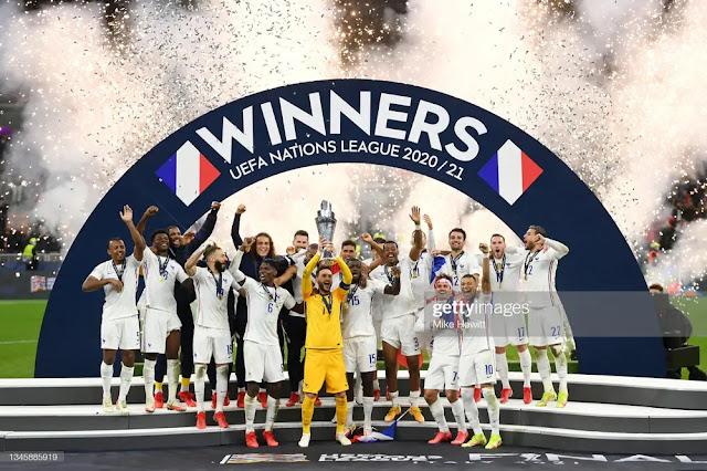 France lifts Nations League trophy