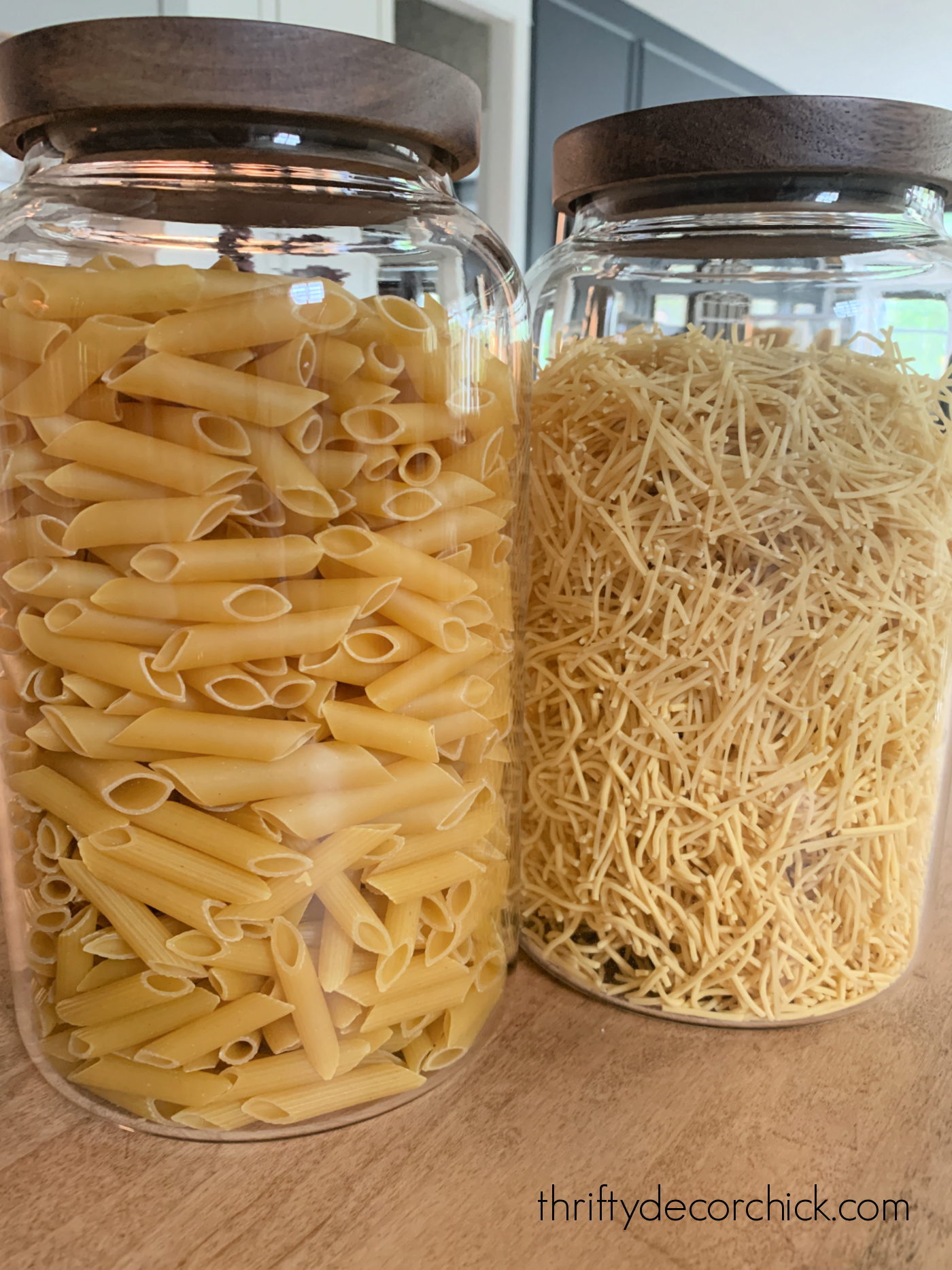 glass containers for pasta
