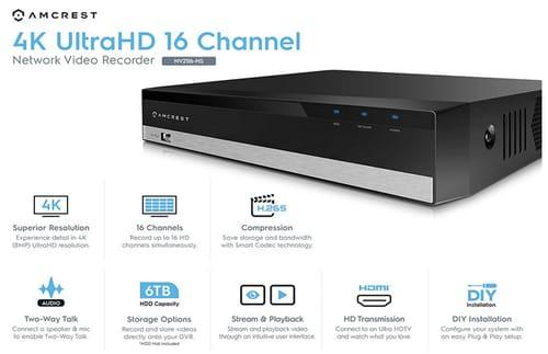 Amcrest NV2116-HS 16CH NVR 1080P Network Video Recorder
