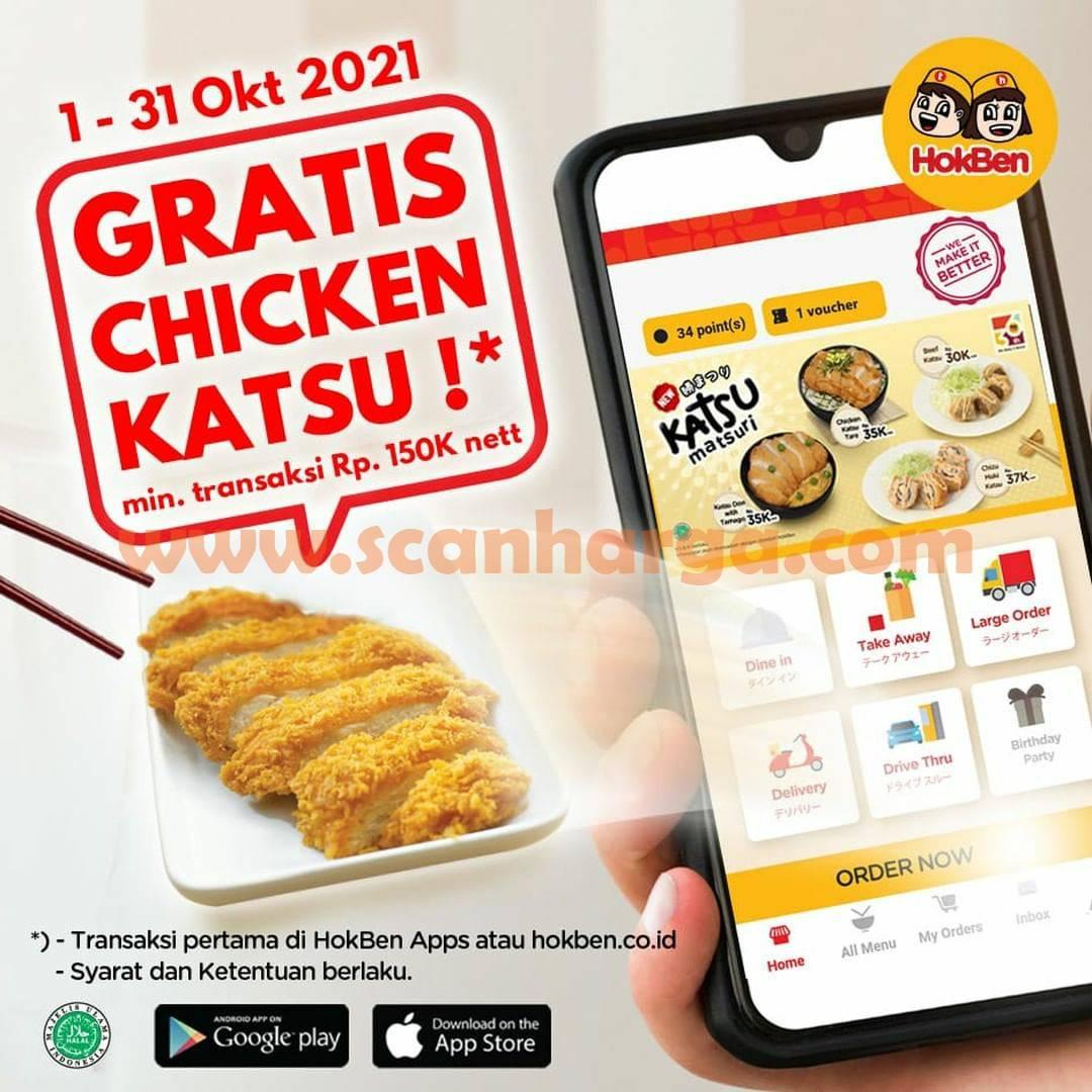HOKBEN Promo GRATIS Chicken Katsu