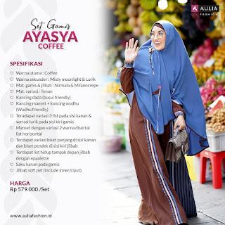 Koleksi Gamis Set Syari Aulia Ayasya Coffe