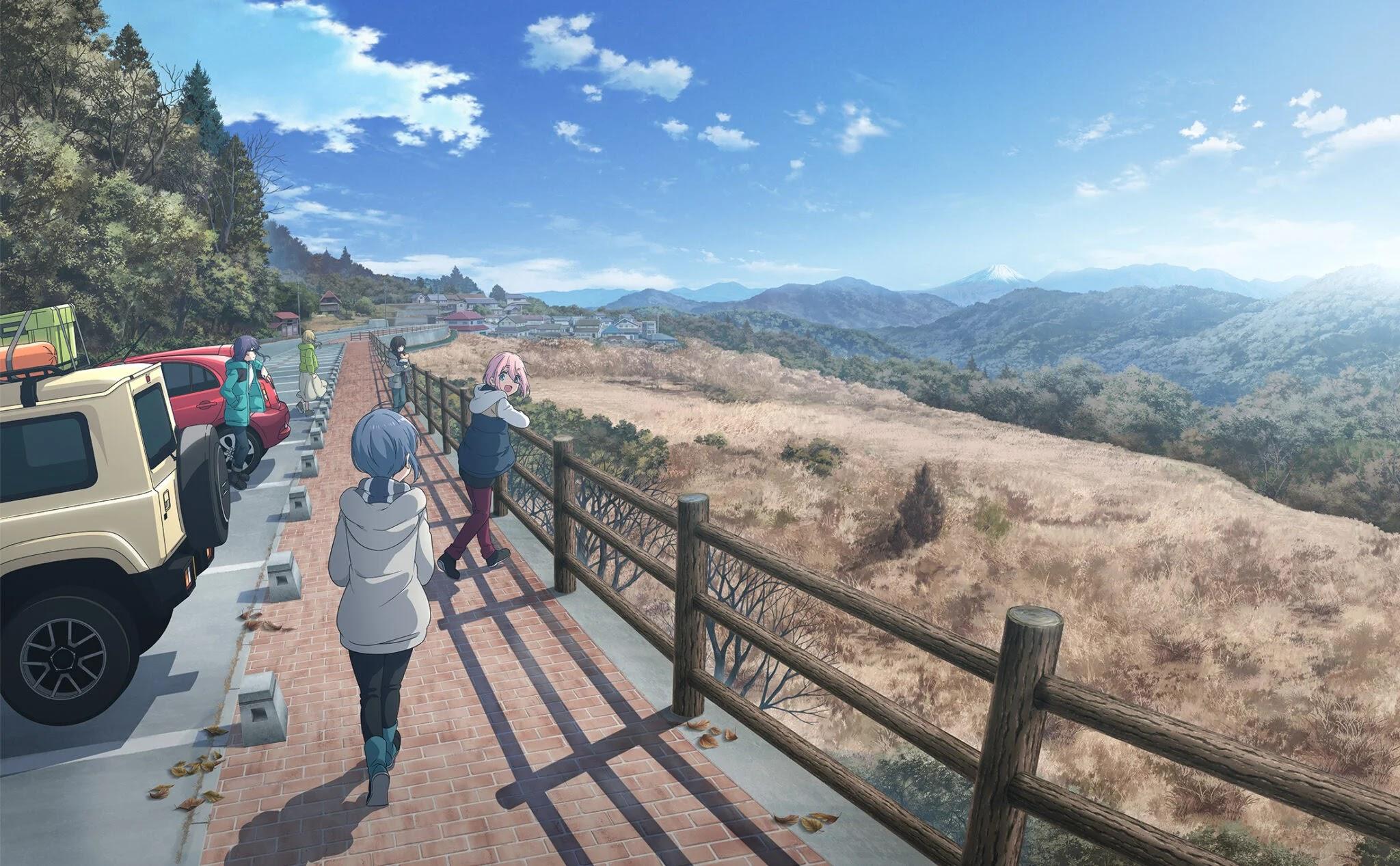 Revelado novo visual para o próximo Filme de Yuru Camp