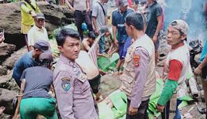 Wisata Desa Sukamulya Menelan Korban.  Polisi dan Warga Langsung Evakuasi
