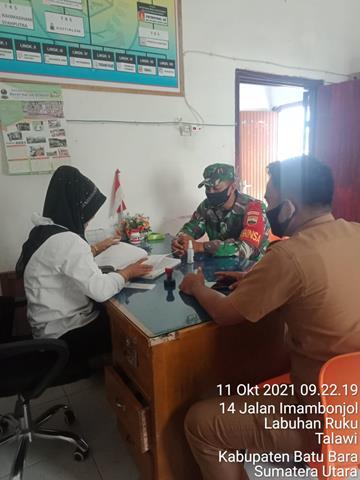 Wujudkan Wilayah Binaan Yang Sehat, Personel Jajaran Kodim 0208/Asahan Laksanakan Komsos Dengan Bidan