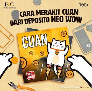 Cara Deposit di Neo+ Plus Isi Saldo Top Up Bank BNC Now Dapat Keuntungan Bunga Kupon Experience Rp10 Juta Terbaru