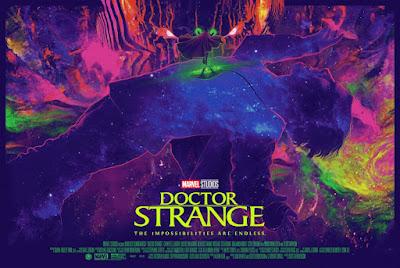 New York Comic Con 2021 Exclusive Doctor Strange Movie Poster Screen Print by Juan Ramos x Grey Matter Art x Marvel Comics