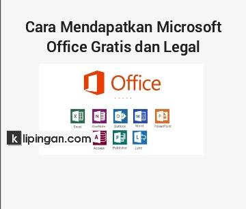 Cara Dapat Microsoft Office Gratis