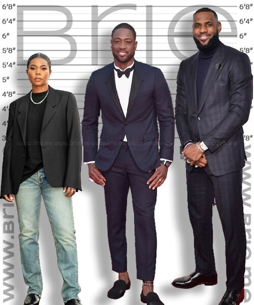 Dwayne Wade height comparison with Gabrielle Union and LeBron James