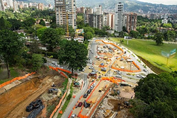 Continúan obras en Medellín: Desde este viernes importante vía será cerrada para acelerar trabajos en El Poblado