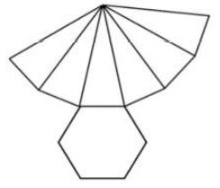 Observe abaixo a planificação de um sólido geométrico