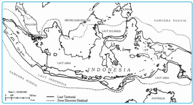 Batas Zona Ekonomi Eksklusif, Laut Teritorial, dan Landas Kontinen