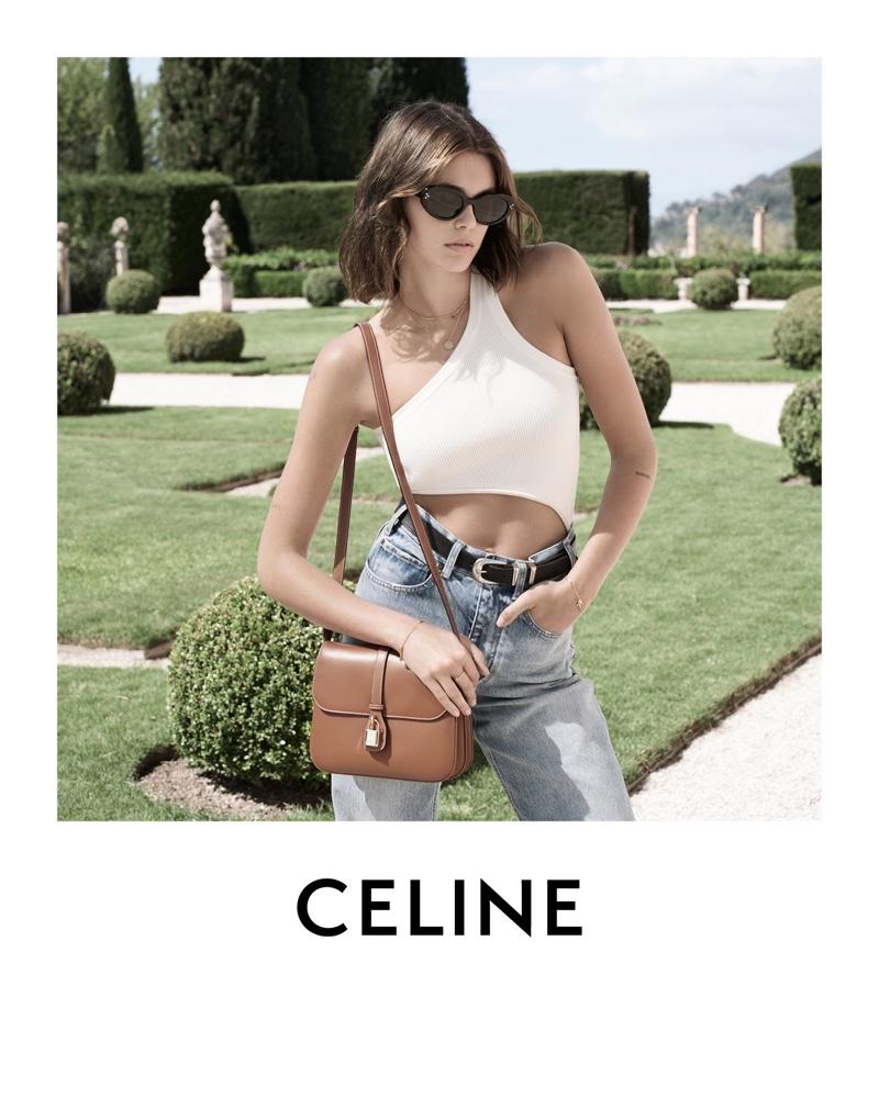 Kaia Gerber Embraces Laid-Back Luxury for Celine Winter 2021 Campaign