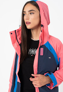Tommy Jeans - Дамско ветроустойчиво Яке с дизайн с цветен блок