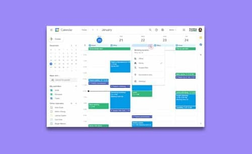 Google allows you to find your workplace using the calendar
