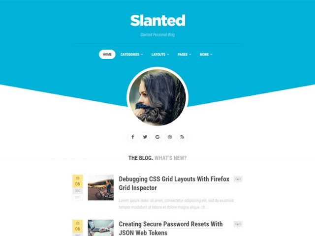 Slanted Best Free WordPress Themes For Blogs 2021