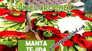 Manta cubrecama en crochet pixelado | Patrones y cómo se teje