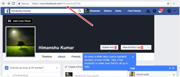افتح الجدول الزمني الخاص بك على Facebook