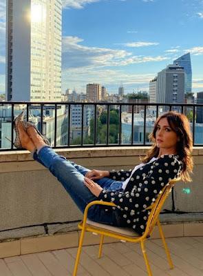 Caterina Balivo foto Jeans Milano 8 ottobre 2021