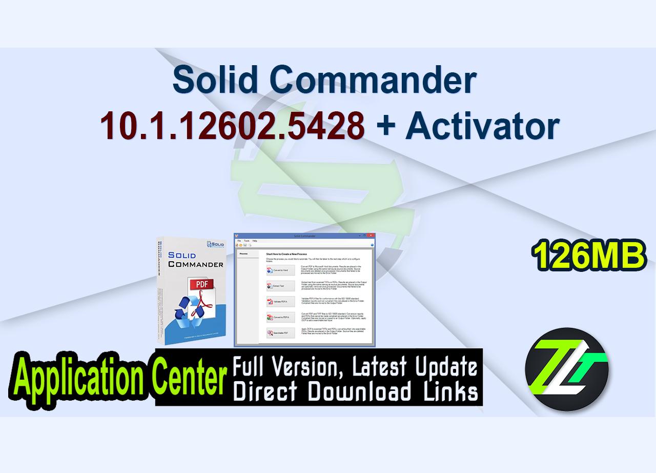 Solid Commander 10.1.12602.5428 + Activator
