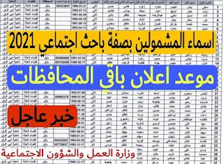 اسماء المشمولين بصفة باحث اجتماعي محافظة بابل
