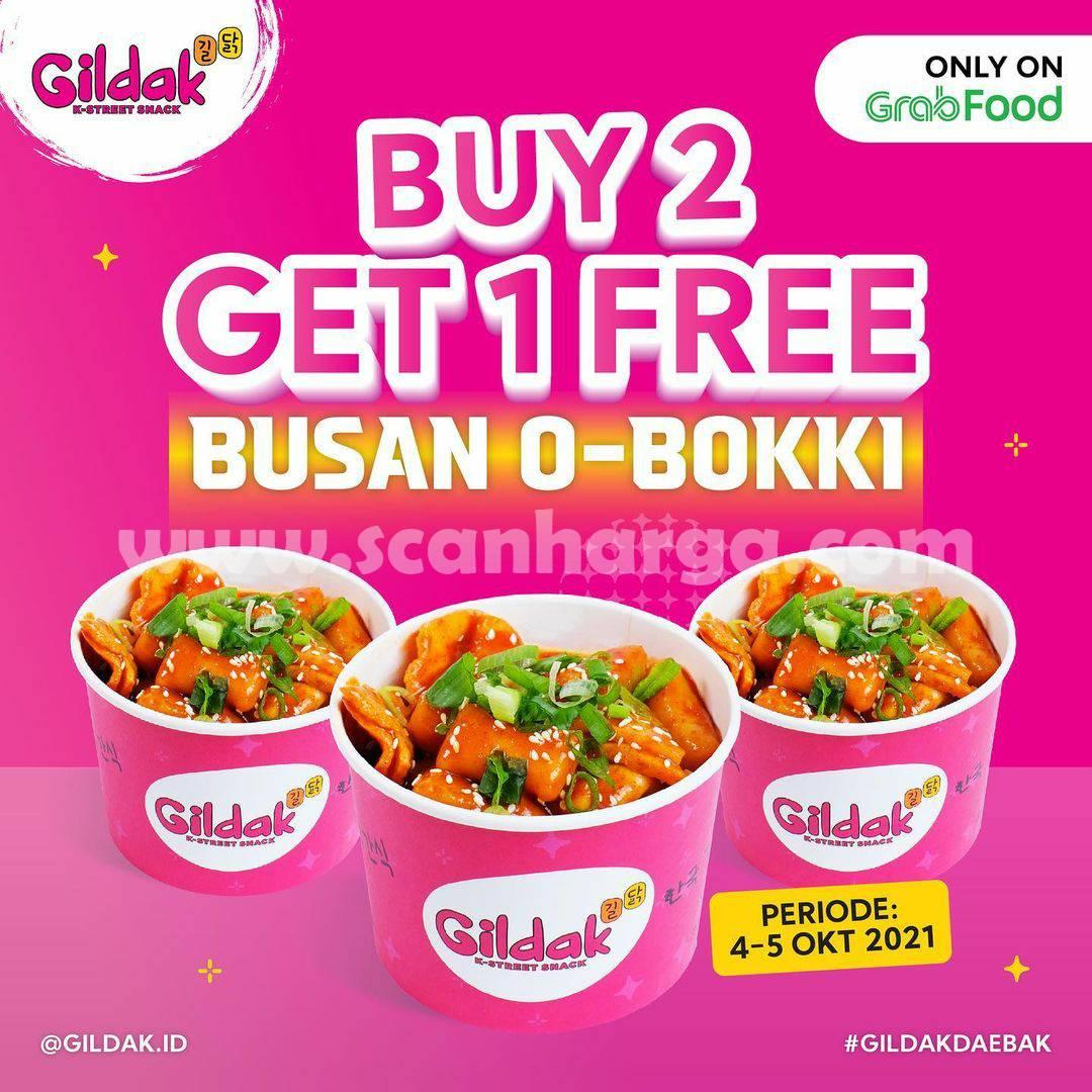 Promo GILDAK Buy 2 Get 1 FREE Busan O-Bokki on GRABFOOD