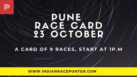 Pune Race Card 23 October
