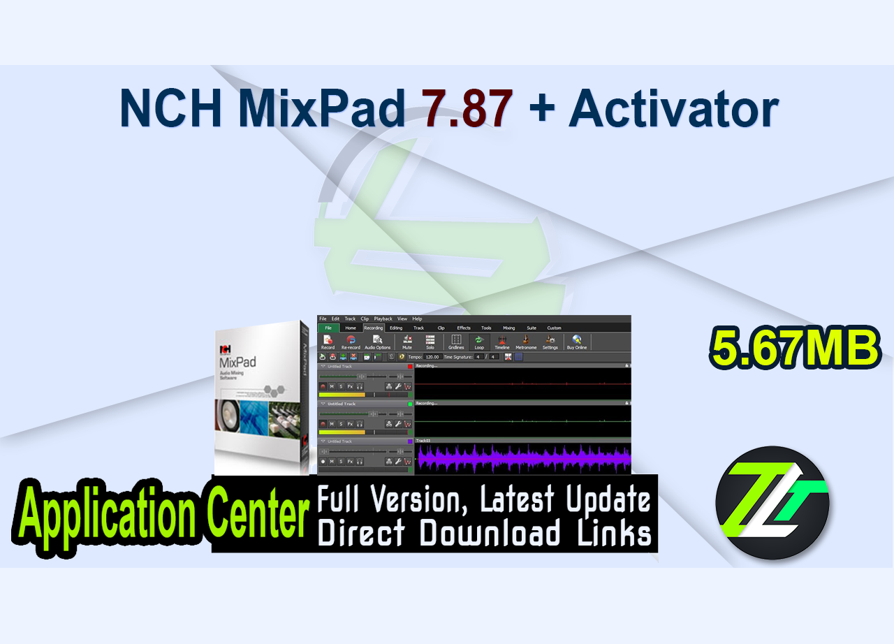 NCH MixPad 7.87 + Activator