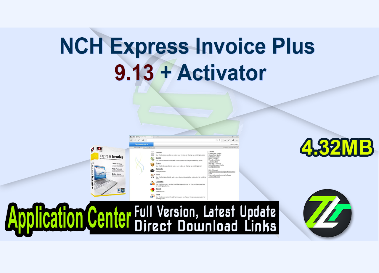 NCH Express Invoice Plus 9.13 + Activator