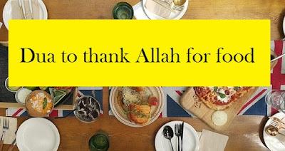 Prophet dua-prayer to thank Allah for food