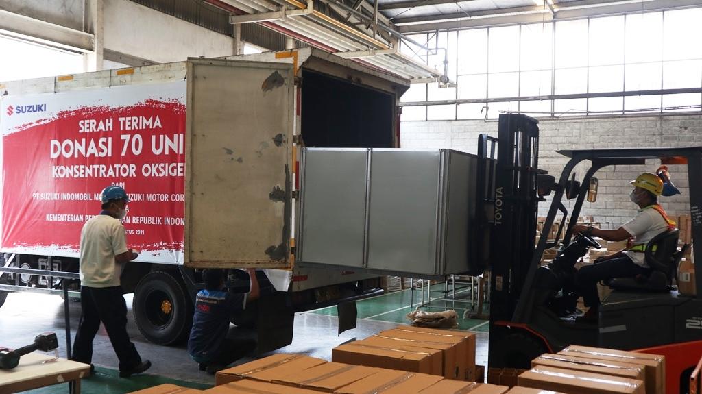 Suzuki Donasikan Oxygenn Concentrator untuk Bantu Penanganan Pandemi Covid-19