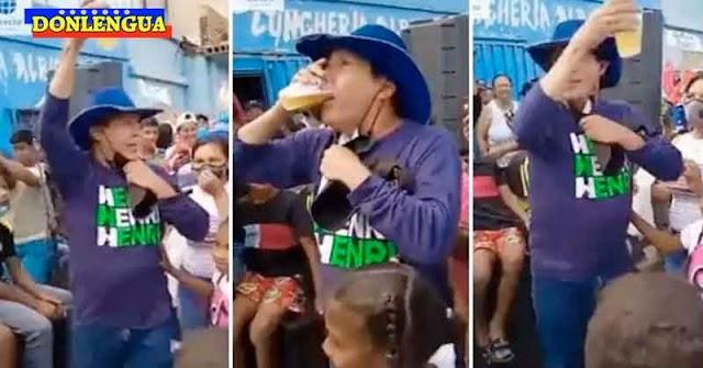 Henri Falcón se quiere ganar los votos de los borrachitos y mendigos del estado Lara