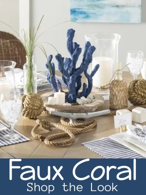 Faux Coral Statures and Figurines Decor Ideas and Shopping
