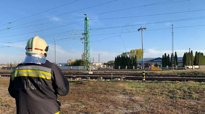 Vasúti vezetéket szakított le egy teherautó Hajdúszoboszlón