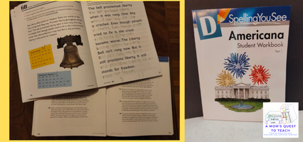 A Mom's Quest to Teach:  Building Spelling Confidence: A Review of Spelling You See - Level D  - student workbooks